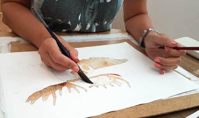 Privatlektioner i akvarell