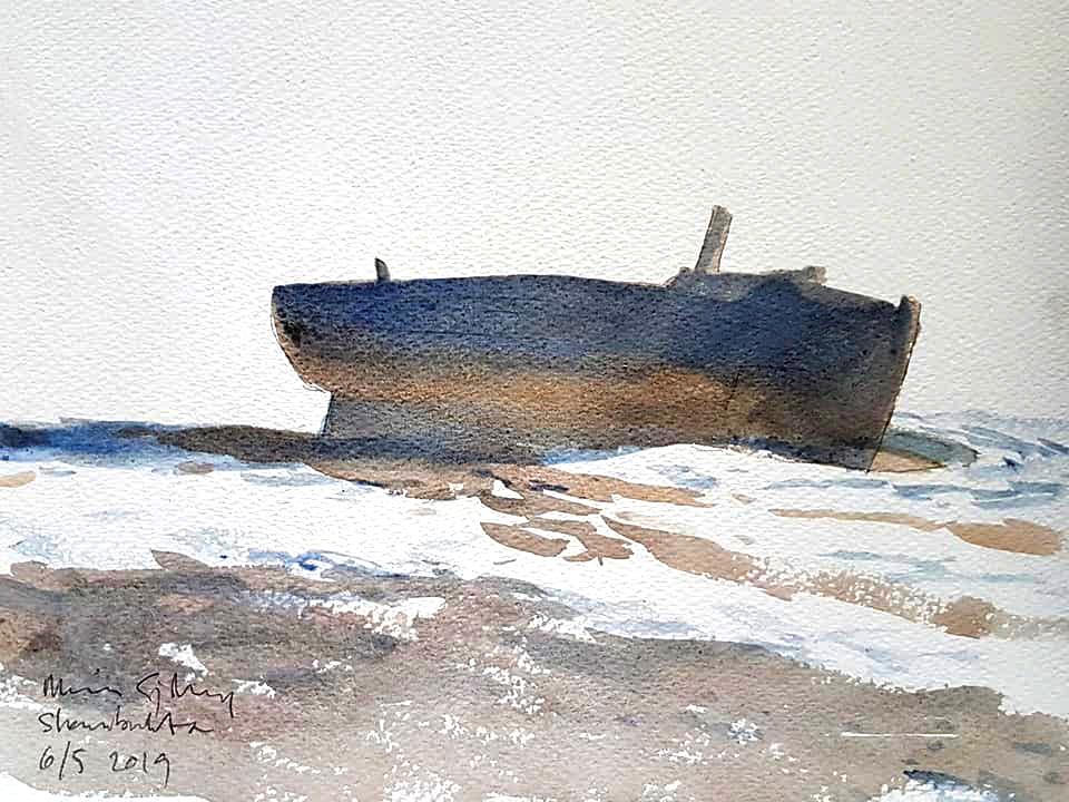 Abandoned boat, Svalbard