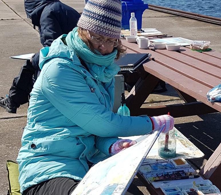 Erika painting